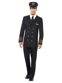 Men's Navy Officer Costume - The Halloween Spot