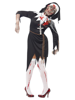Women's Zombie Bloody Sister Mary Costume - The Halloween Spot