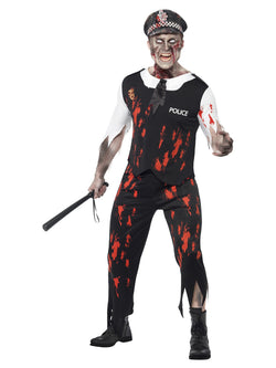 Men's Zombie Policeman Costume - The Halloween Spot