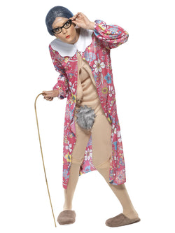 Patterned Unisex Gravity Granny Costume