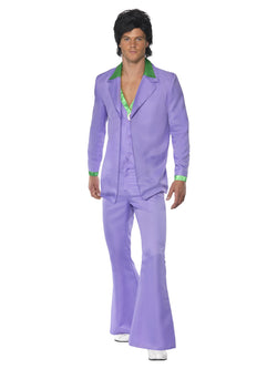 Men's Lavender 1970s Suit Costume - The Halloween Spot