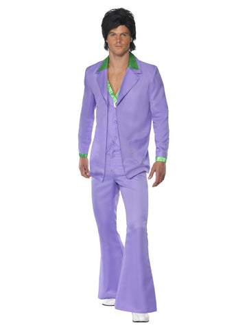 Men's Lavender 1970s Suit Costume