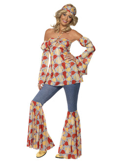 Women's Plus Size Vintage Hippy 1970s Costume