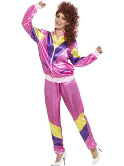 Women's 80s Height of Fashion Shell Suit Costume - The Halloween Spot