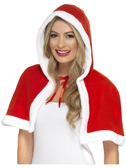 Red colour Miss Claus Mini Cape