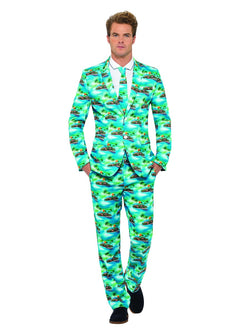 Men's Blue Coloured Aloha Suit