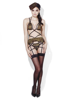 Fever Army Private Camouflage Lingerie Set