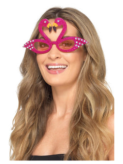 Flamingo Sparkle Glasses, Pink