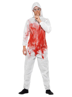 Men's Bloody Forensic Overall Costume - The Halloween Spot