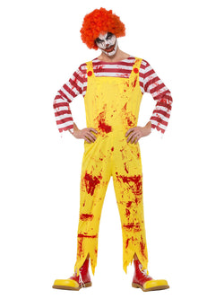 Kreepy Killer Clown Costume, Yellow & Red, with Jumpsuit