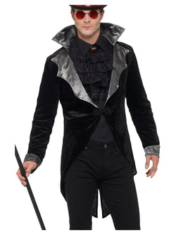 Gothic Vampire Jacket, Black, with Collar