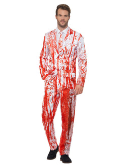 Blood Drip Suit, Red, with Jacket, Trousers & Tie