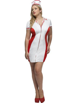 Women's Plus Size Fever Curves Nurse Costume - The Halloween Spot