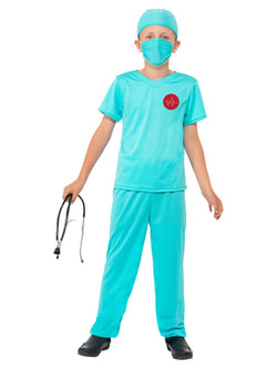 Blue coloured Kid's Surgeon Costume