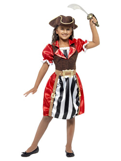 Girls Pirate Captain Red Costume