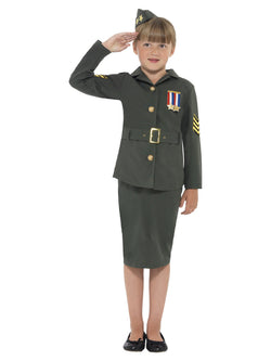 Girl's WW2 Army Girl Costume - The Halloween Spot