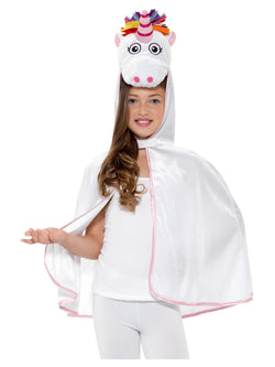 Unicorn Cape, White & Pink