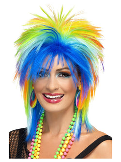 Smiffy's 80s Rainbow Punk Wig - The Halloween Spot