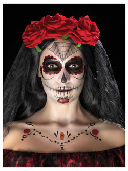 Day of the Dead Face Tattoo Transfers Kit - The Halloween Spot