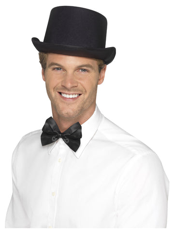 Black Satin Look Top Hat