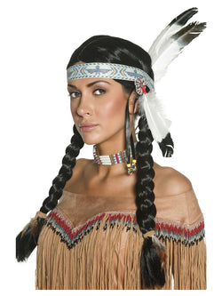 Women's Native American Inspired Wig - The Halloween Spot