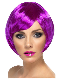 Purple Babe Wig Short Bob with Fringe