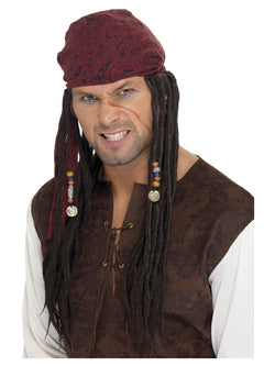 Smiffy's Pirate Wig & Scarf