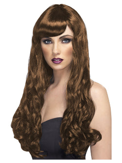 Long Brown Desire Wig Curly with Fringe