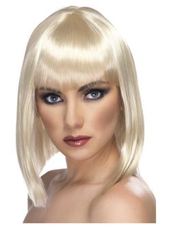 Short Blonde Blunt with Fringe Glam Wig