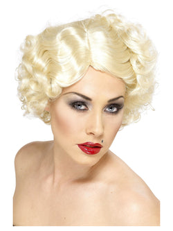 Blonde Hollywood Icon Wig with Short Curls