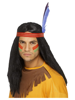 Men's Native American Inspired Brave Wig