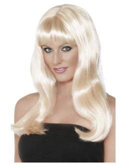 Blonde Mystique Wig Long with Fringe and Skin Parting