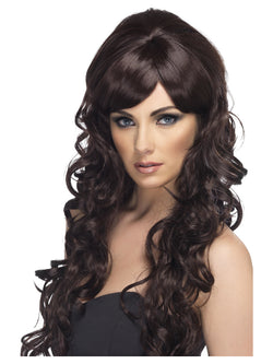 Long and Curly Pop Starlet Brown Wig