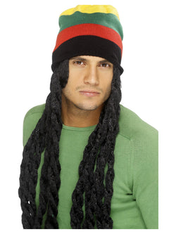 Black Rasta Hat with Long Deadlocks