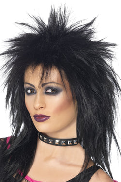 Black with Long Mullet Rock Diva Wig