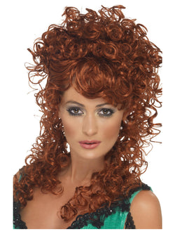 Women's Long and Curly Saloon Girl Wig