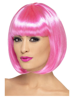 Short Bob with Fringe Partyrama Pink Wig