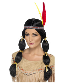 Native American Inspired Black Wig