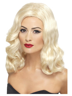 20s Luscious Long Blonde Wig with waves