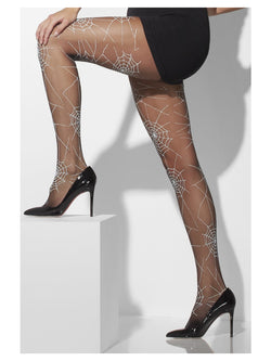 Black Spiderweb Print Tight - The Halloween Spot