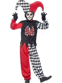 Boy's Blood Curdling Jester Black Costume