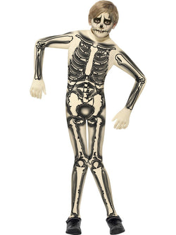 Boy's Nude Skeleton Second Skin Costume