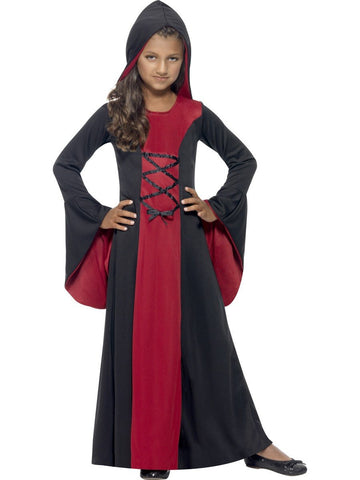 Girl's Red and Black Vamp Costume Set