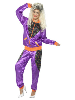 Ladies Retro Shell Suit Purple Costume