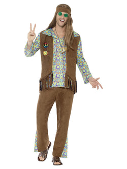 60's Hippie Multi-coloured Mens Costume