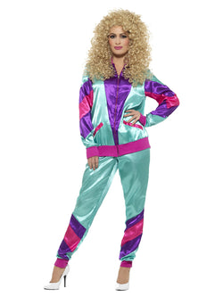 80s Height of Fashion Shell Suit Costume, Female - The Halloween Spot