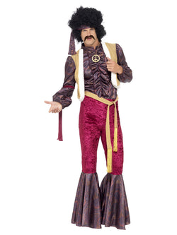 Men's 1970s Psychedelic Rocker Costume with Flares - The Halloween Spot