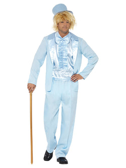90's Stupid Blue coloured Tuxedo Costume