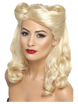 Smiffy's 40s Pin Up Wig - The Halloween Spot