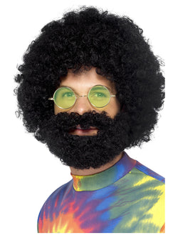 Groovy Dude Afro Wig and Beard - The Halloween Spot